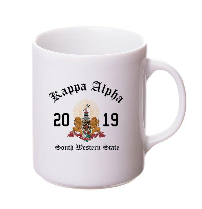Kappa Alpha Crest & Year Ceramic Mug