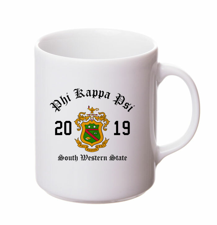 Phi Kappa Psi Crest & Year Ceramic Mug