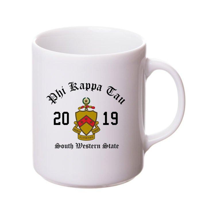 Phi Kappa Tau Crest & Year Ceramic Mug