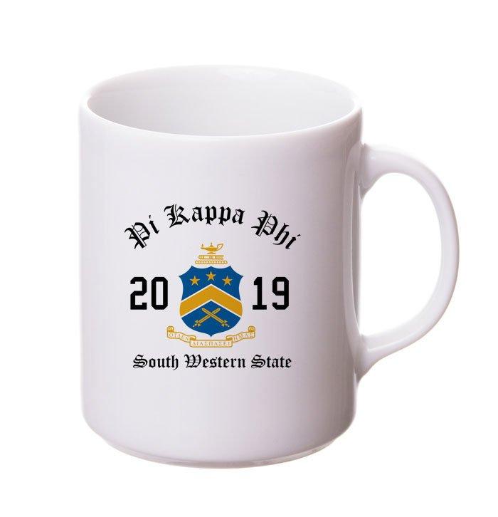 Pi Kappa Phi Crest & Year Ceramic Mug