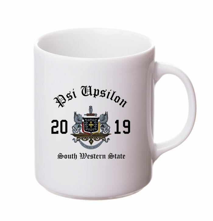 Psi Upsilon Crest & Year Ceramic Mug