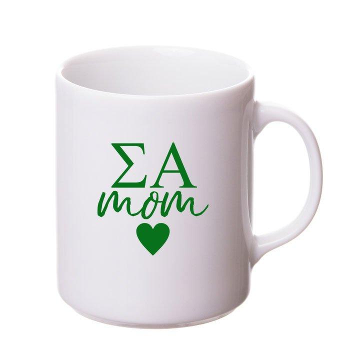 Sigma Alpha White Personalized Coffee Mug