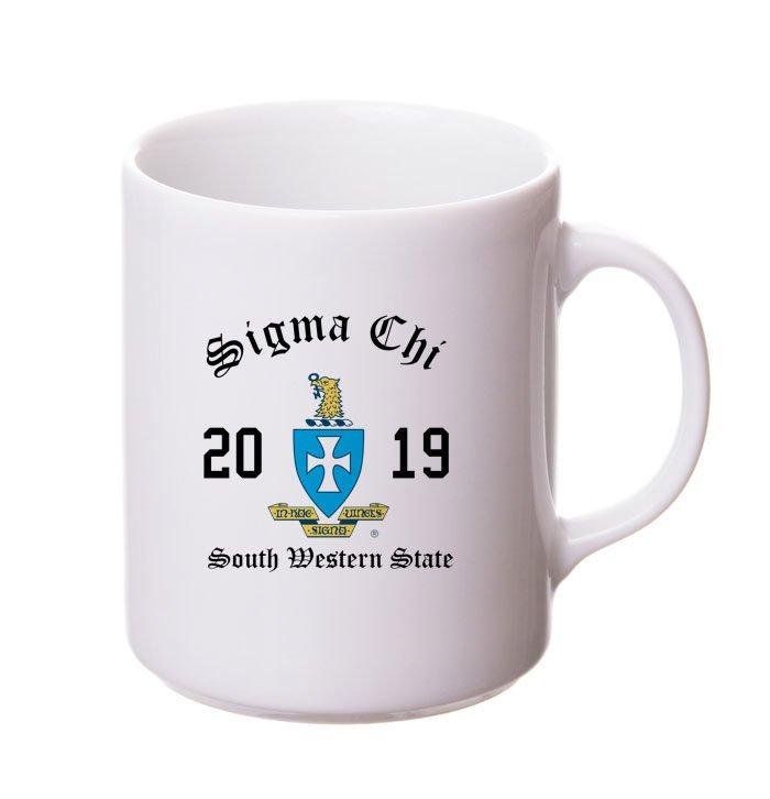 Sigma Chi Crest & Year Ceramic Mug