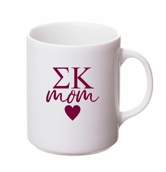 Sigma Kappa White Personalized Coffee Mug