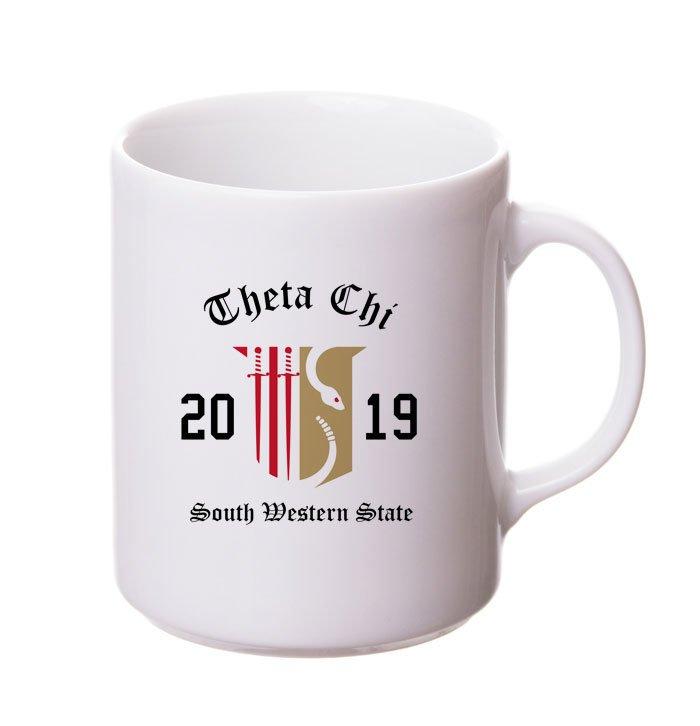 Theta Chi Crest & Year Ceramic Mug