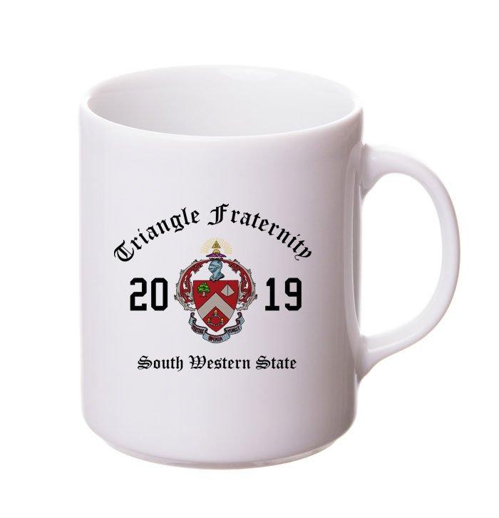 Triangle Crest & Year Ceramic Mug
