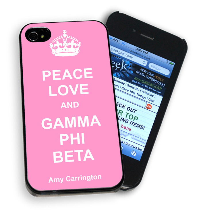 Peace Love & Your Sorority Phone Cover