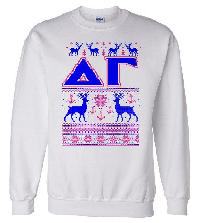 Delta Gamma Ugly Christmas Sweater Crewneck Sweatshirt