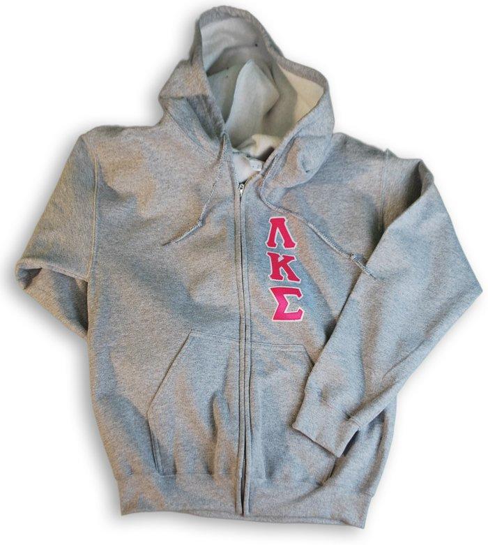 Zippered Hoodie Front Lettered Sweatshirt