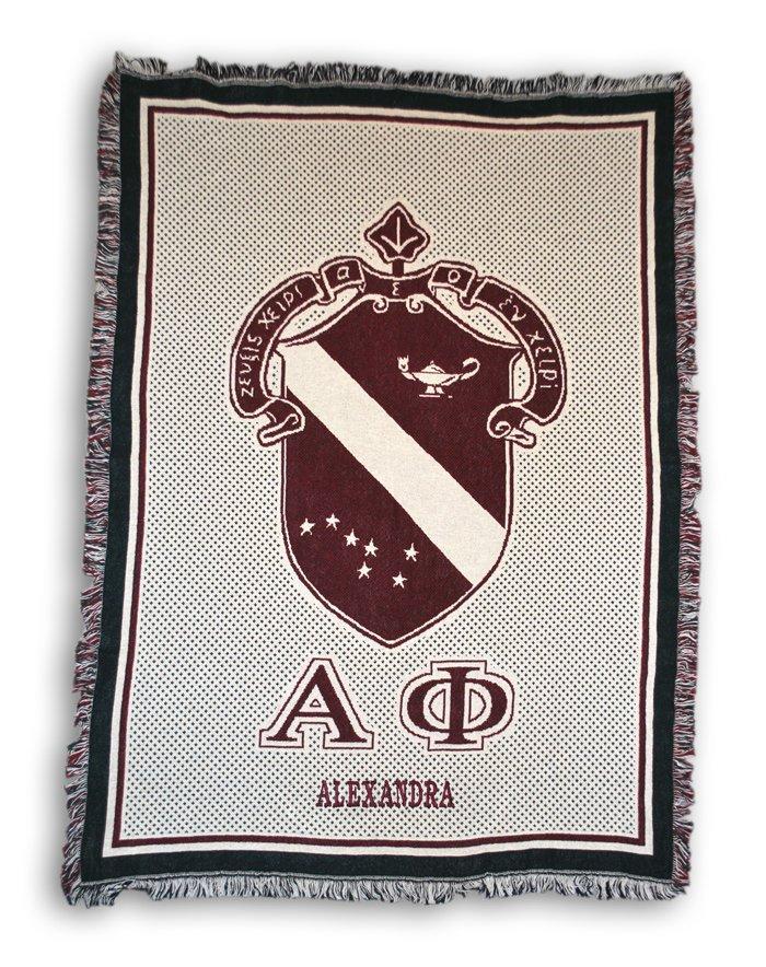 Personalized Greek Afghan Blanket!