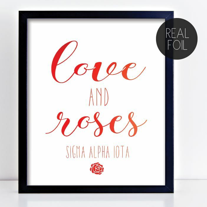 Sigma Alpha Iota Motto Foil Print
