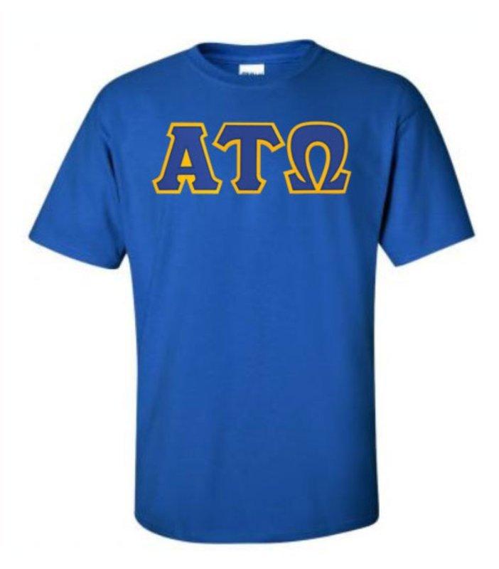 DISCOUNT Alpha Tau Omega Lettered T-shirt