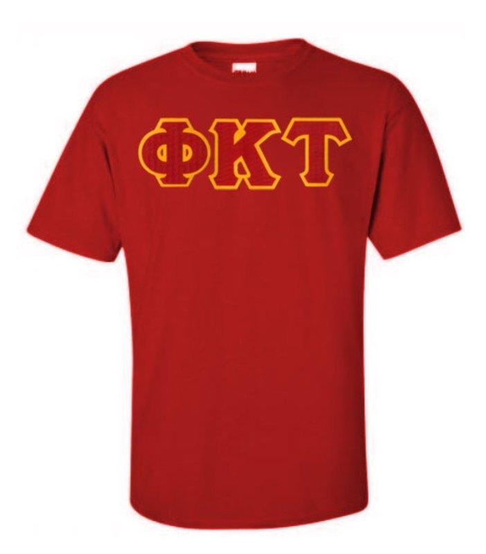 DISCOUNT Phi Kappa Tau Lettered T-shirt
