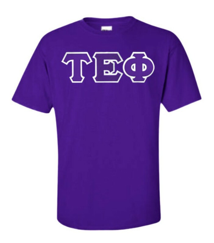 DISCOUNT Tau Epsilon Phi Lettered T-shirt