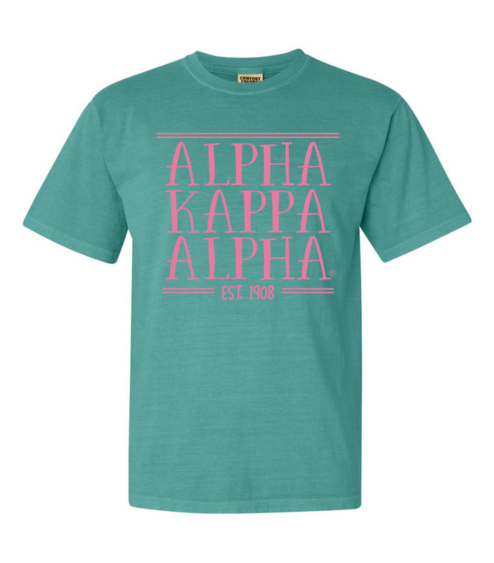 Alpha Kappa Alpha Comfort Colors Custom Heavyweight T-Shirt