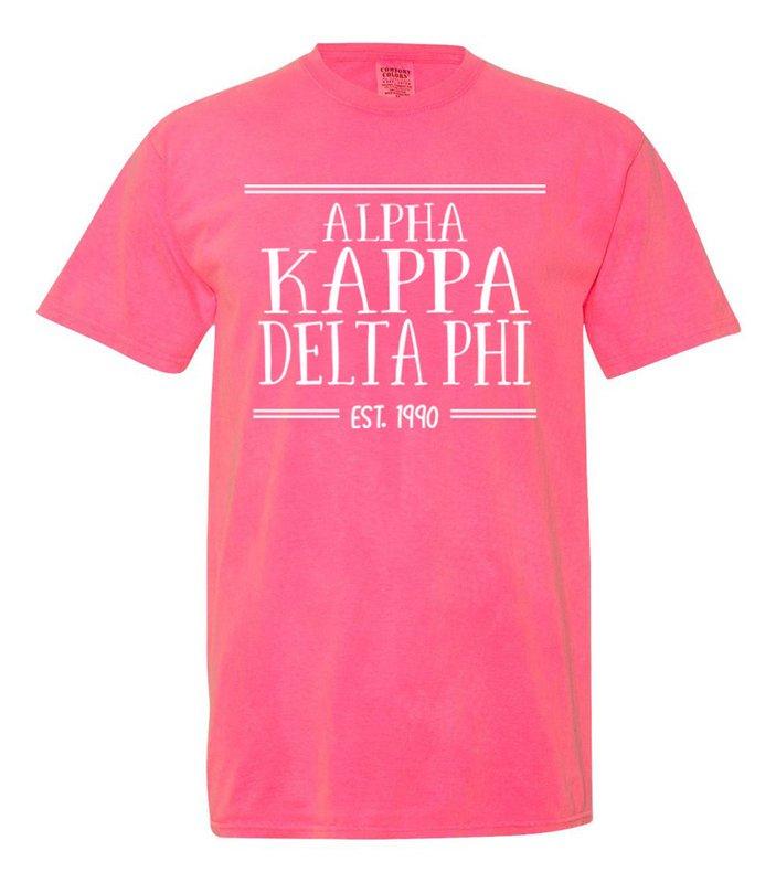 alpha Kappa Delta Phi Comfort Colors Custom Heavyweight T-Shirt