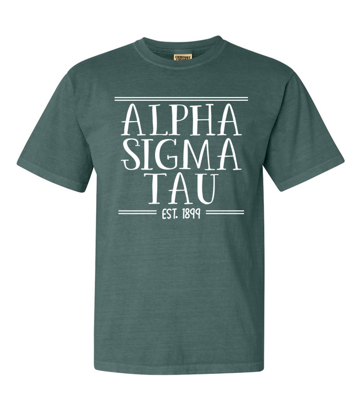 Alpha Sigma Tau Comfort Colors Custom Heavyweight T-Shirt