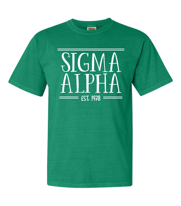 Sigma Alpha Comfort Colors Custom Heavyweight T-Shirt
