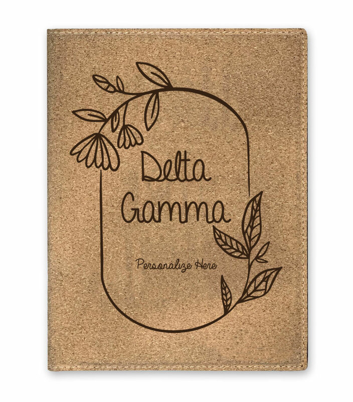 Delta Gamma Cork Portfolio with Notepad