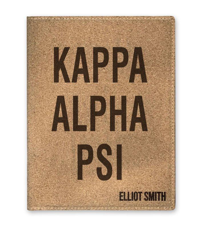 Kappa Alpha Psi Cork Portfolio with Notepad