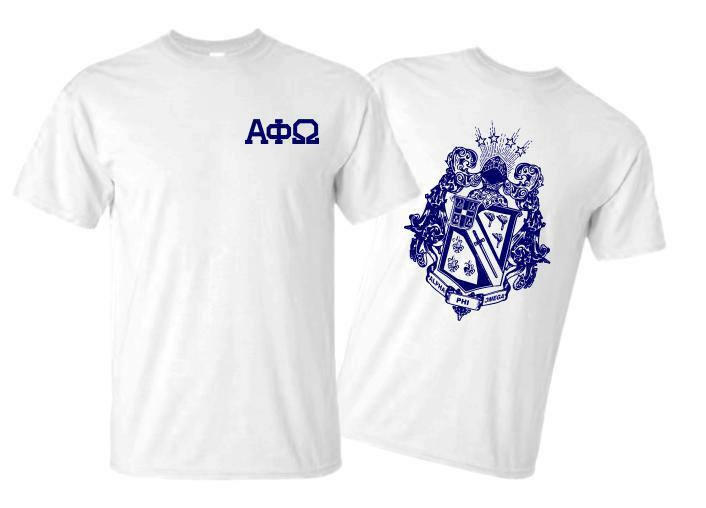 Alpha Phi Omega World Famous Crest - Shield Tee