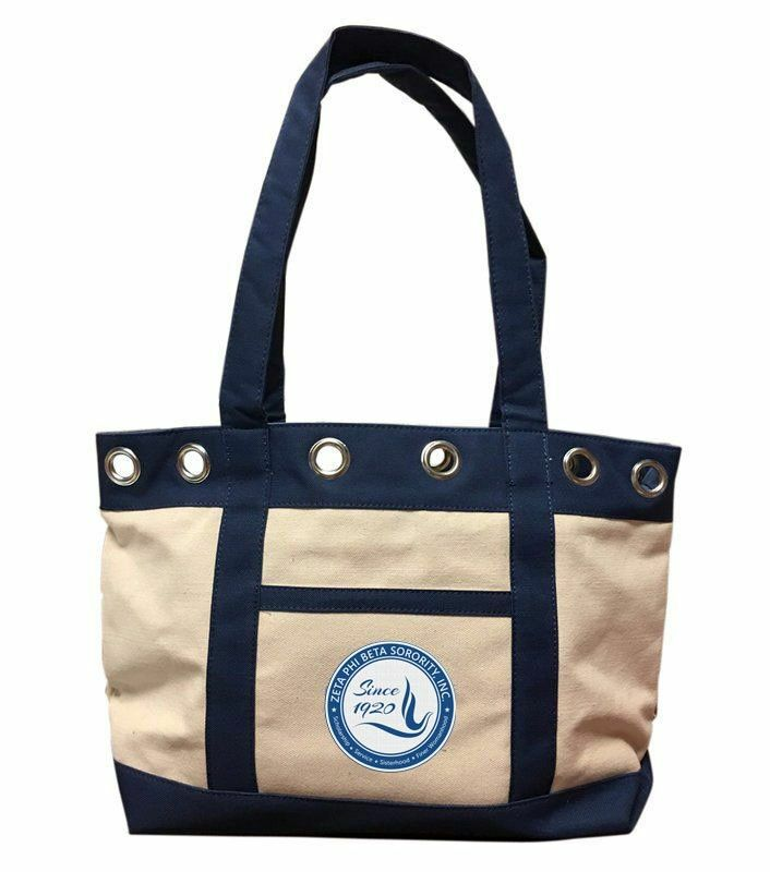 DISCOUNT-ZETA PHI BETA CANVAS TOTE BAG - ON SALE!