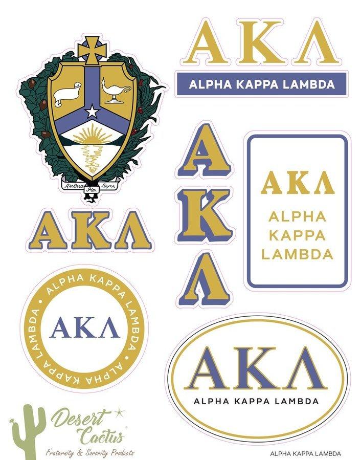 Alpha Kappa Lambda Traditional Sticker Sheet