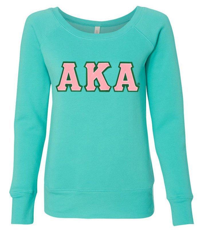 DISCOUNT-Alpha Kappa Alpha Fleece Wideneck Sweatshirt