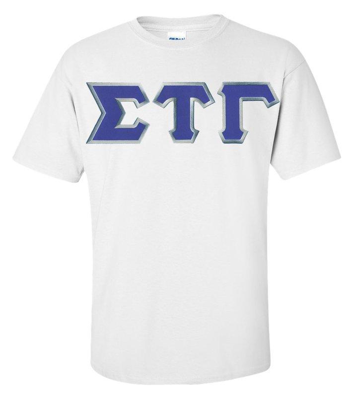 DISCOUNT Sigma Tau Gamma Lettered T-shirt