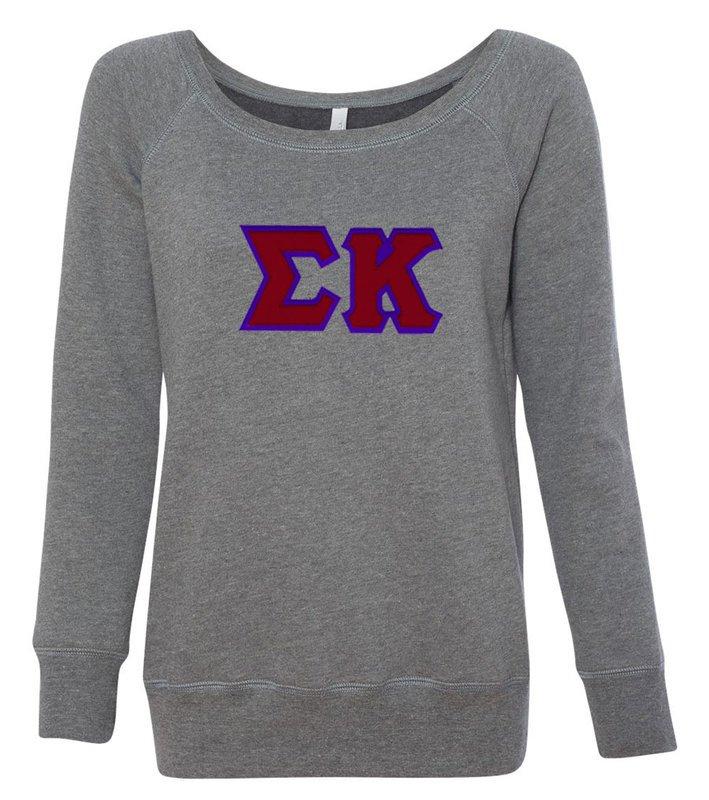 DISCOUNT-Sigma Kappa Fleece Wideneck Sweatshirt