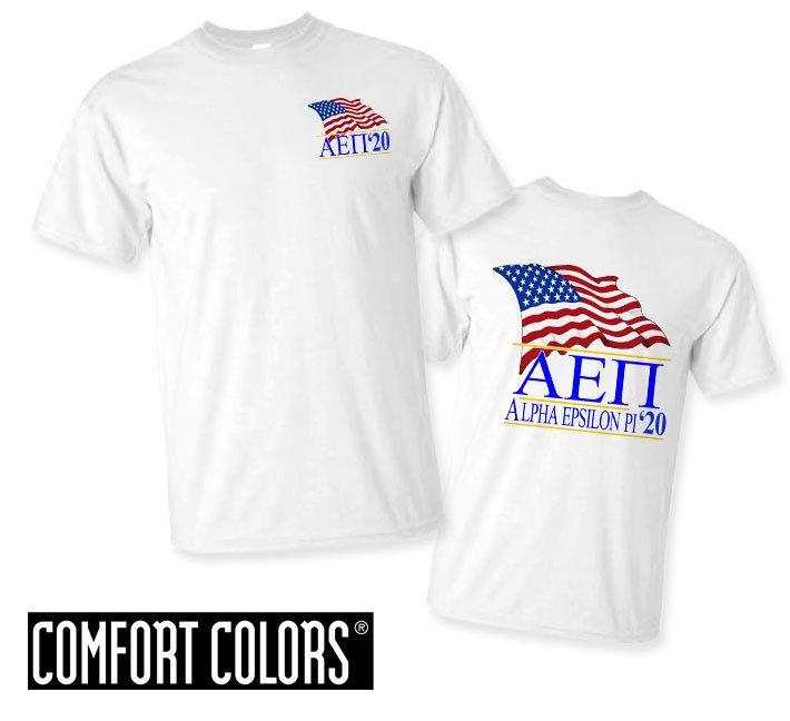 Alpha Epsilon Pi Patriot  Limited Edition Tee - Comfort Colors