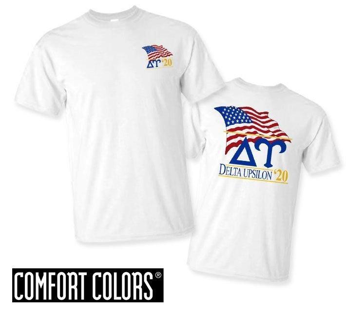 Delta Upsilon Patriot  Limited Edition Tee - Comfort Colors