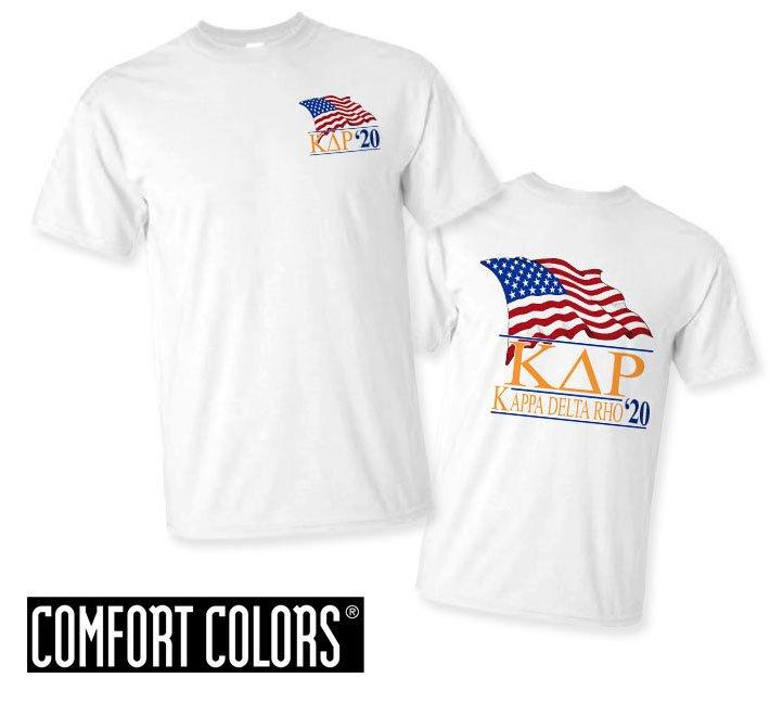 Kappa Delta Rho Patriot  Limited Edition Tee - Comfort Colors