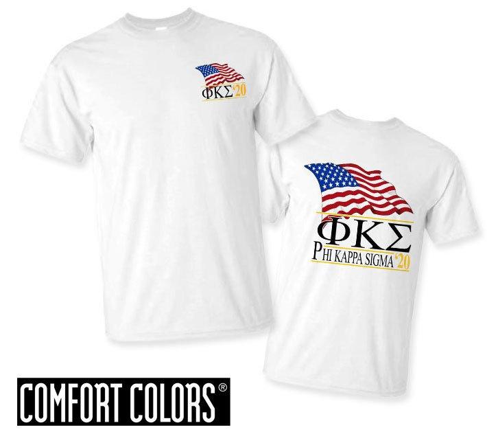 Phi Kappa Sigma Patriot  Limited Edition Tee - Comfort Colors