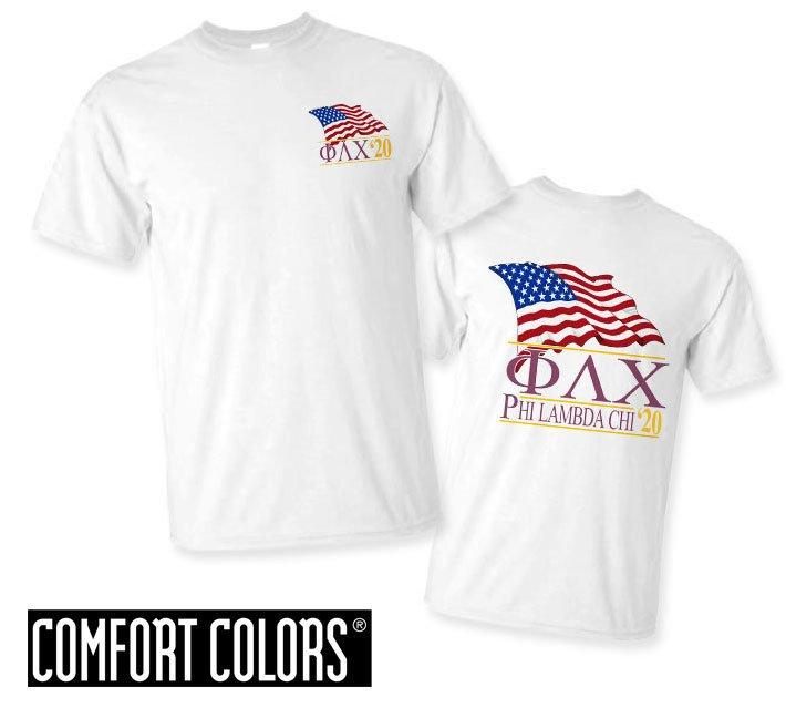 Phi Lambda Chi Patriot  Limited Edition Tee - Comfort Colors