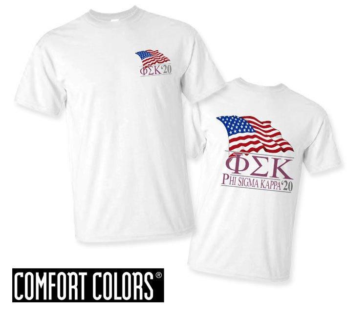 Phi Sigma Kappa Patriot  Limited Edition Tee - Comfort Colors