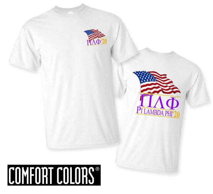 Pi Lambda Phi Patriot  Limited Edition Tee - Comfort Colors