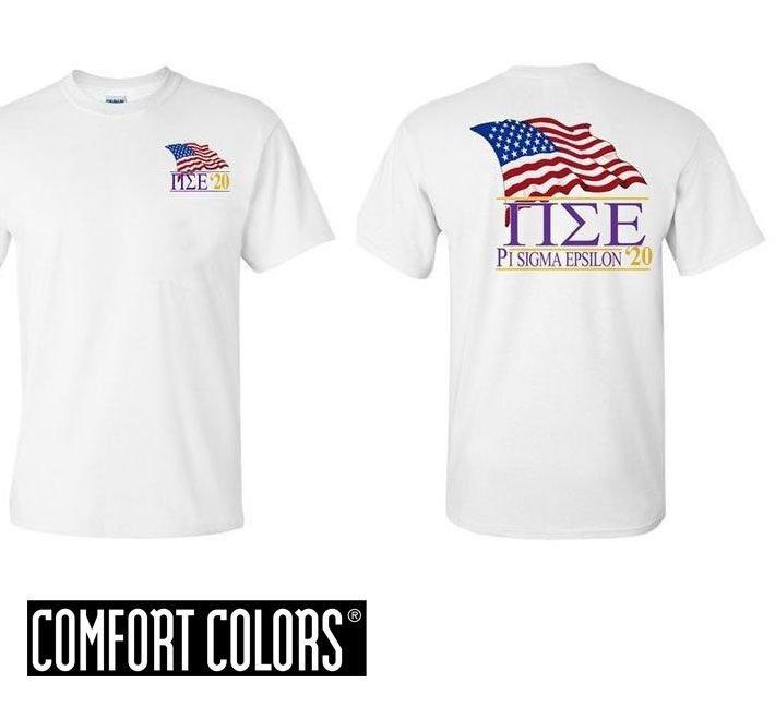 Pi Sigma Epsilon Patriot  Limited Edition Tee - Comfort Colors