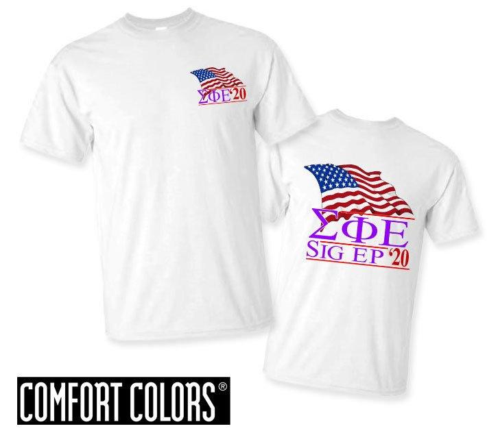 Sigma Phi Epsilon Patriot  Limited Edition Tee - Comfort Colors