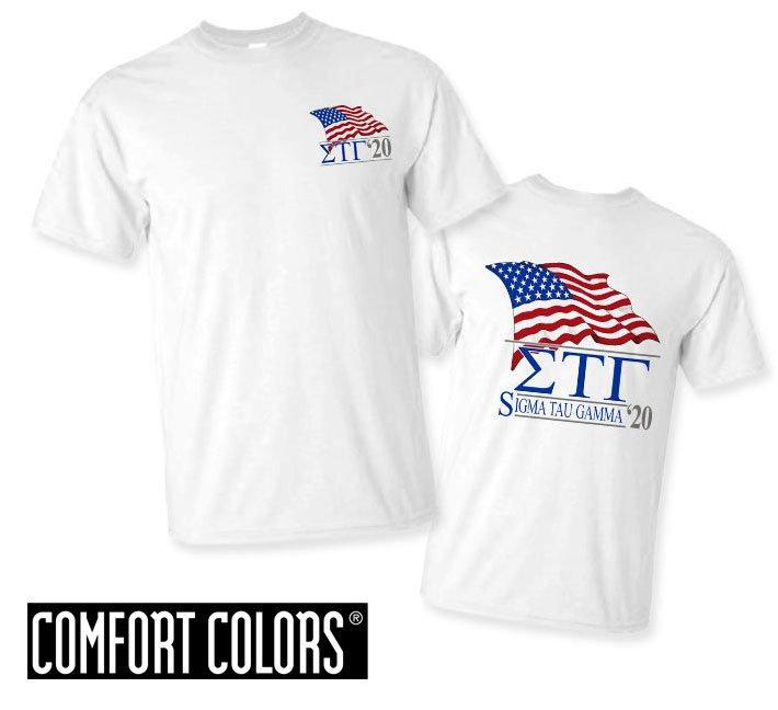 Sigma Tau Gamma Patriot  Limited Edition Tee - Comfort Colors