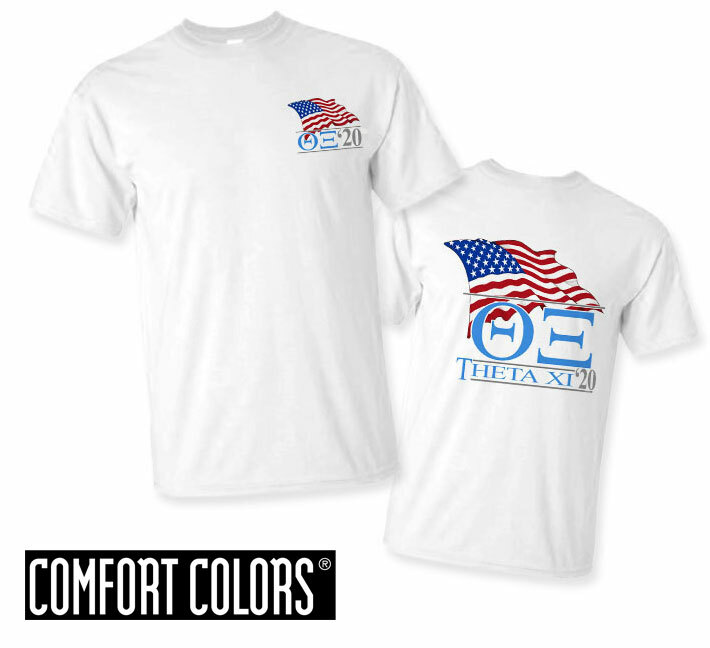 Theta Xi Patriot  Limited Edition Tee - Comfort Colors