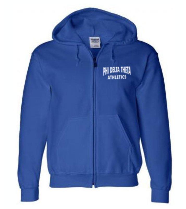 Athletics Hooded Greek Zipper Sweatshirt