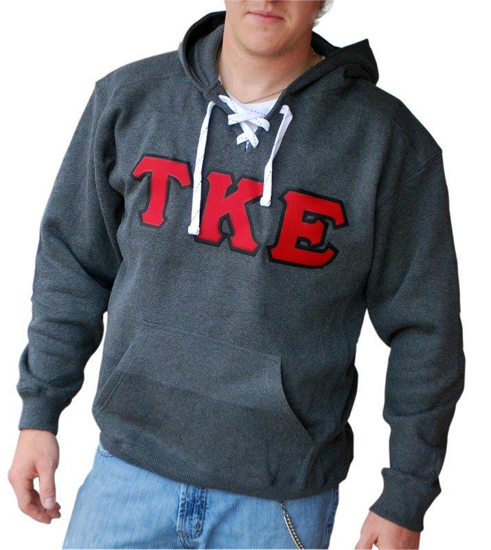 DISCOUNT-Greek Sport Lace Hooded Sweatshirt