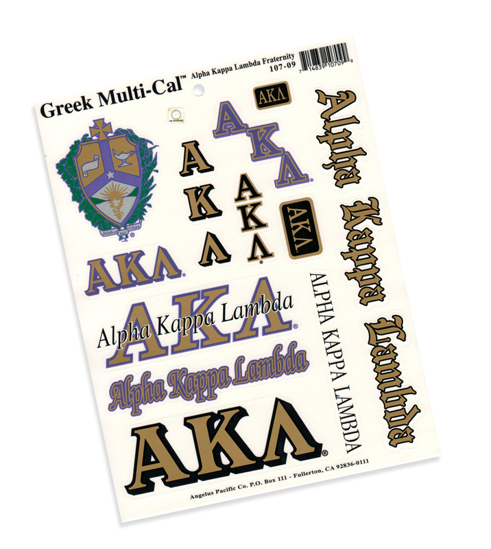 Alpha Kappa Lambda Multi Decal Sheet