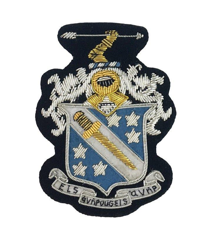 Fraternity Blazer Crest - Shield Emblem