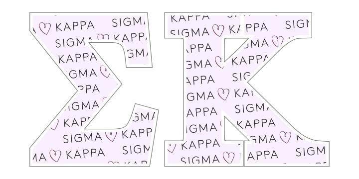 """Sigma Kappa Mascot Greek Letter Sticker - 2.5"""" Tall"""