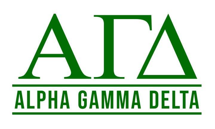 Alpha Gamma Delta Custom Sticker - Personalized