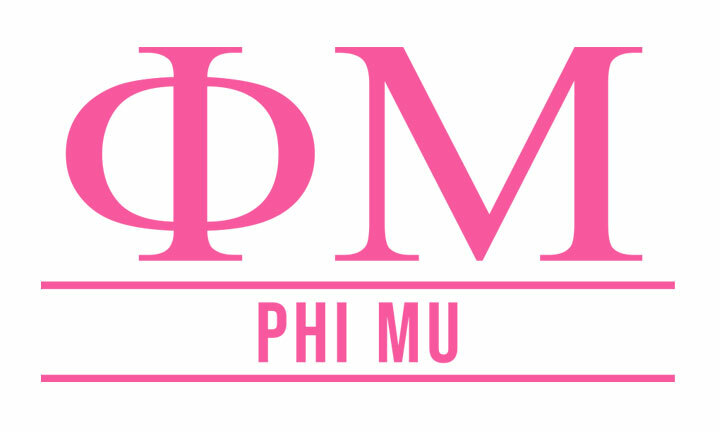 Phi Mu Custom Sticker - Personalized