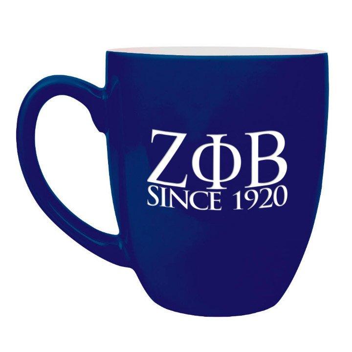 Zeta Phi Beta Greek Bistro Mug