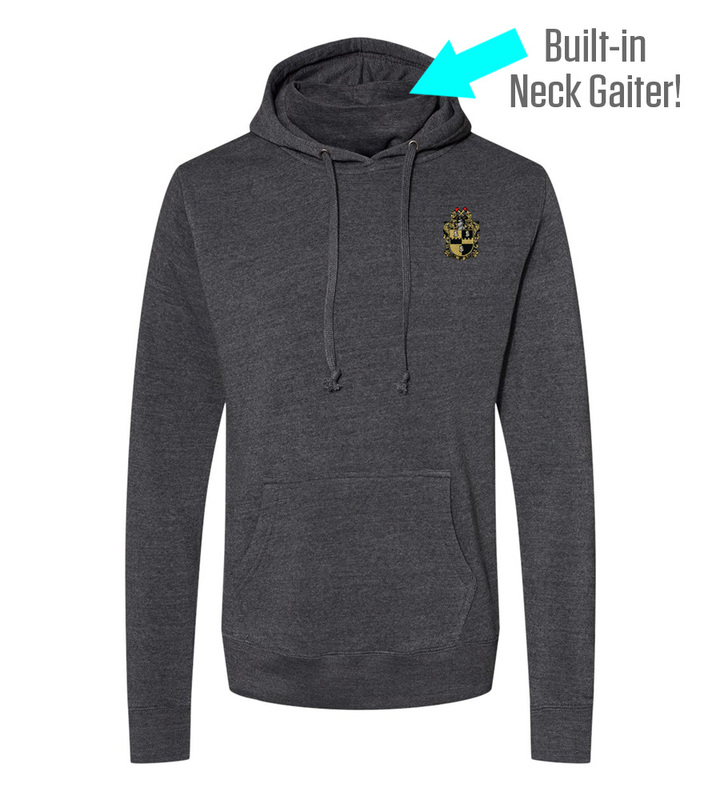 Alpha Phi Alpha Crest Gaiter Fleece Hooded Sweatshirt
